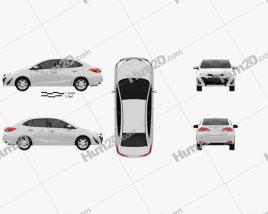 Toyota Vios 2018 car clipart