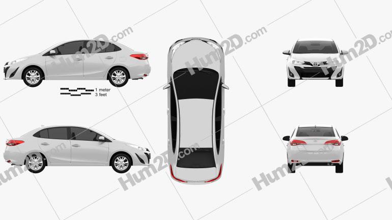 Toyota Vios 2018 Clipart Image