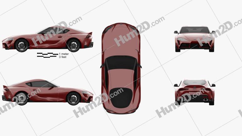 Toyota Supra US-spec 2019 car clipart