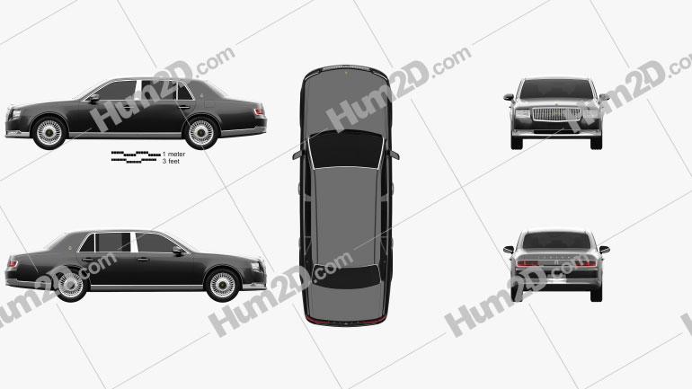 Toyota Century 2018 car clipart