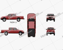 Toyota Tacoma Double Cab Limited 2001 car clipart