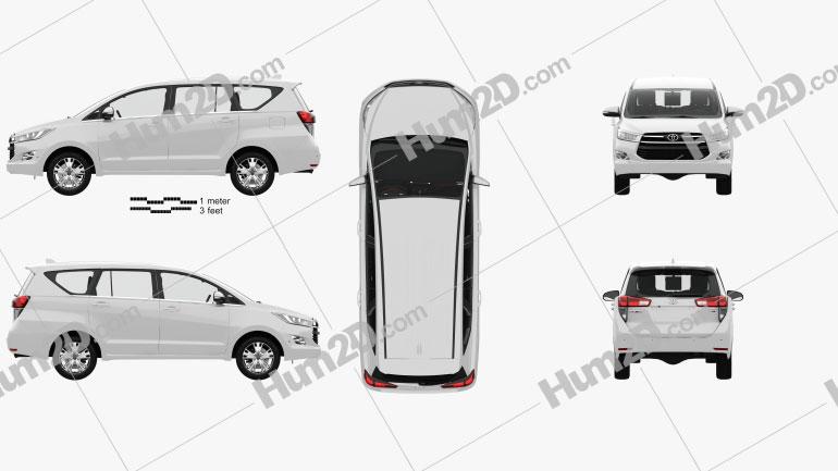 Toyota Innova with HQ interior 2016 clipart