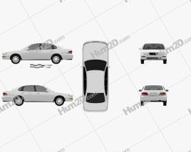 Toyota Avalon 1995 car clipart