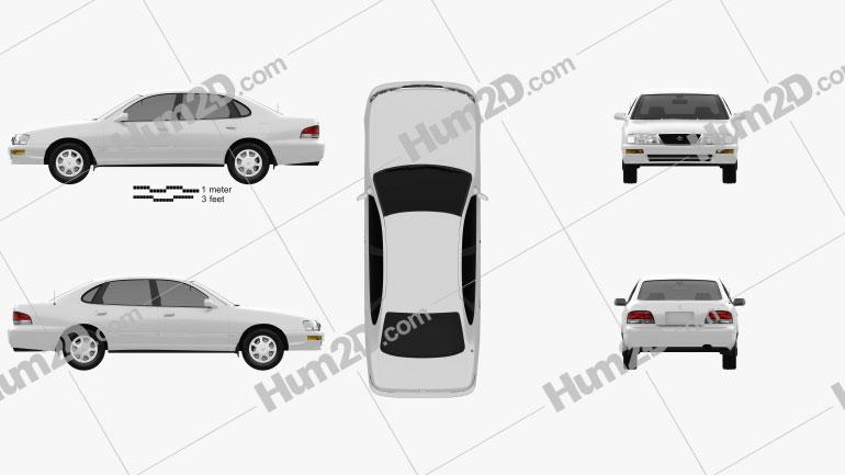 Toyota Avalon 1995 Imagem Clipart