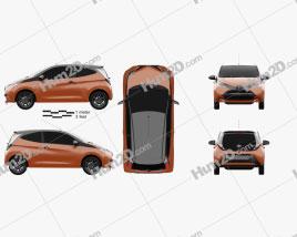 Toyota Aygo x-cite 3-door 2014 car clipart