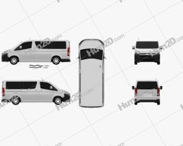 Toyota Hiace Passenger Van L1H1 Deluxe 2019 clipart