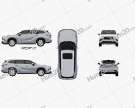 Toyota Highlander Platinum 2020 car clipart