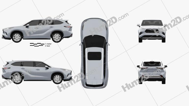Toyota Highlander Platinum 2020 Imagem Clipart