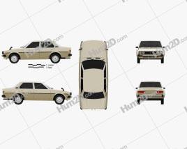 Toyota Corolla sedan 1979 car clipart