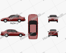 Toyota Corolla sedan 1995 Clipart