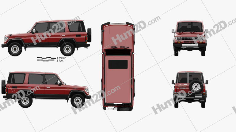 Toyota Land Cruiser Prado Station Wagon SX 1993 car clipart