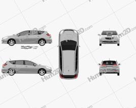 Toyota Caldina 2002 car clipart