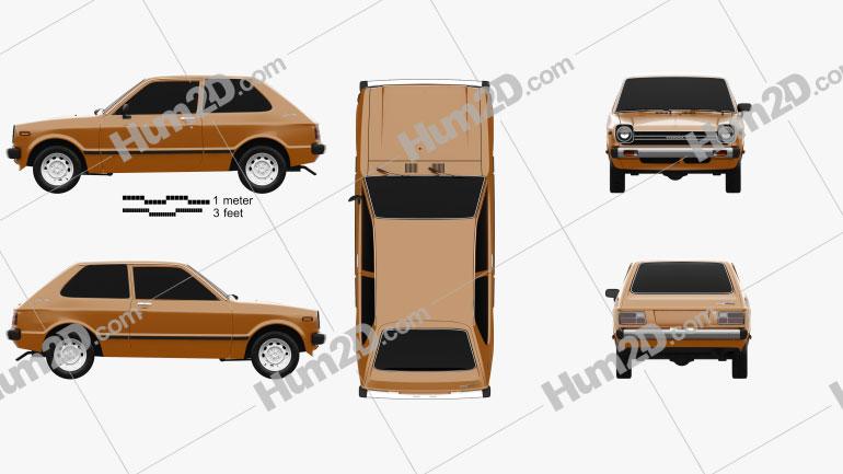 Toyota Starlet 1978 car clipart