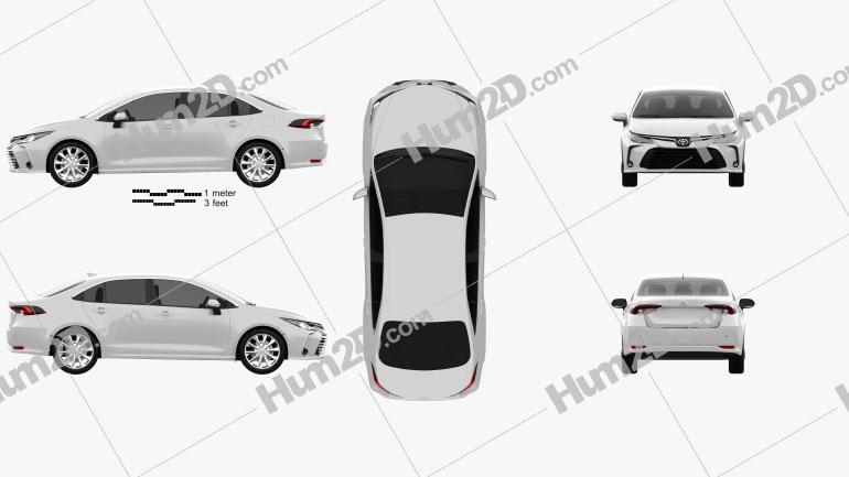 Toyota Corolla Altis 2020 car clipart