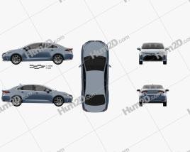 Toyota Corolla Hybrid sedan 2019 car clipart