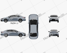 Toyota Corolla XSE US-Spez sedan 2019 car clipart