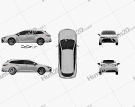Toyota Corolla Touring Sports Hybrid 2019 car clipart