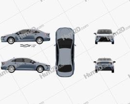 Toyota Corolla XLE US-spec sedan 2019 car clipart