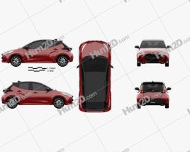 Toyota Yaris hybrid 2020 car clipart