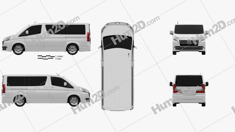 Toyota Granvia 2019 Clipart Image