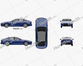 Toyota Mirai 2019 car clipart