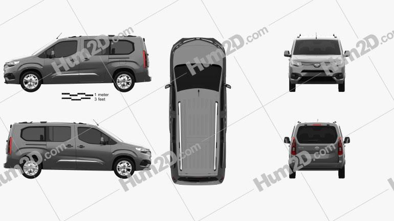 Toyota ProAce City Verso L2 2019 clipart