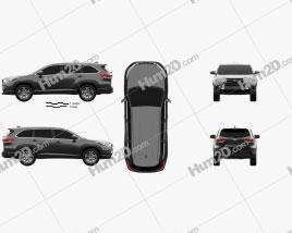 Toyota Highlander LEplus 2016 car clipart