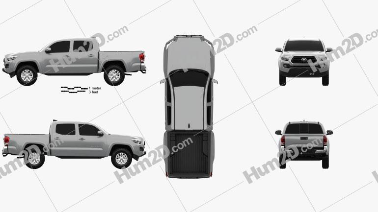 Toyota Tacoma Cabina dupla Cama Curta SR5 2014 Imagem Clipart