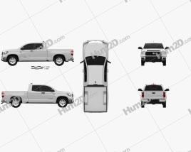 Toyota Tundra Double Cab SR5 2013 car clipart