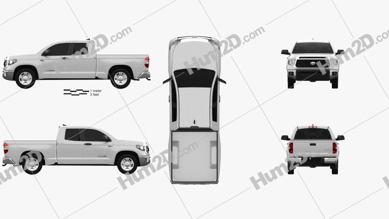 Toyota Tundra Double Cab SR5 2013 Clipart Image