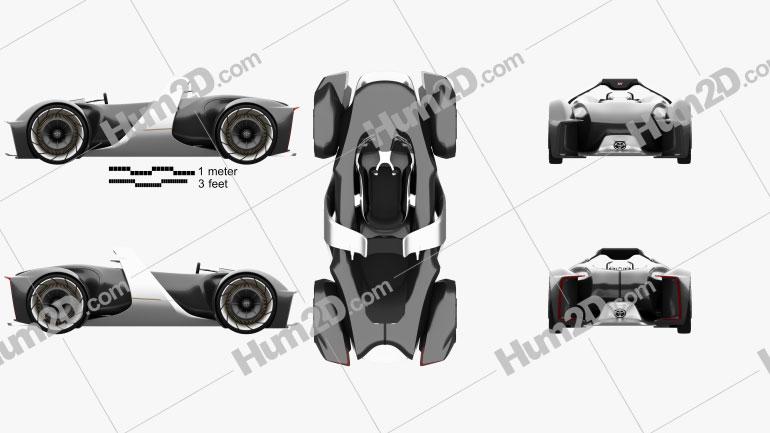 Toyota e-Racer 2019 car clipart