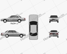 Toyota Cressida 1988 car clipart