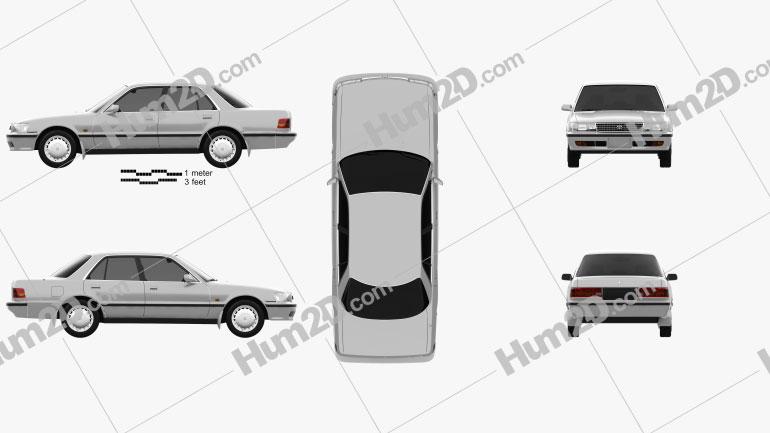 Toyota Cressida 1988 Clipart Image