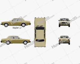Toyota Cressida 1976 car clipart