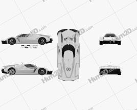 Toyota GR Super Sport 2018 car clipart