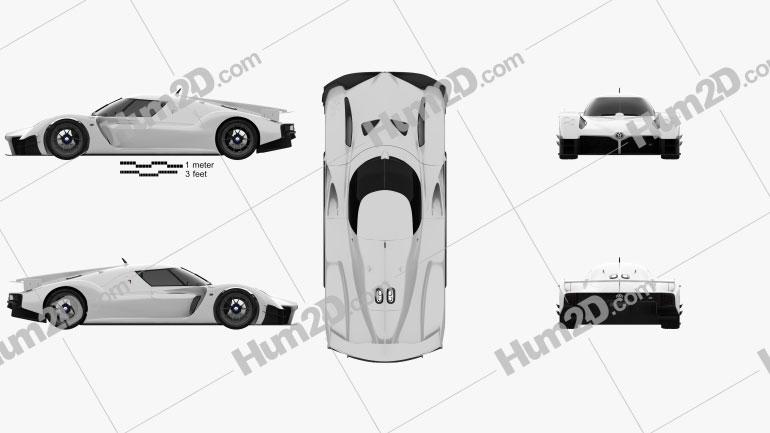 Toyota GR Super Sport 2018 Clipart Image