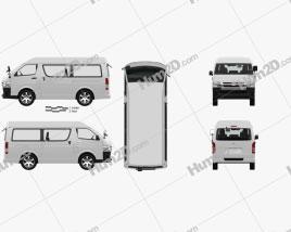 Toyota Hiace Passenger Van L1H3 DX RHD with HQ interior 2013 clipart