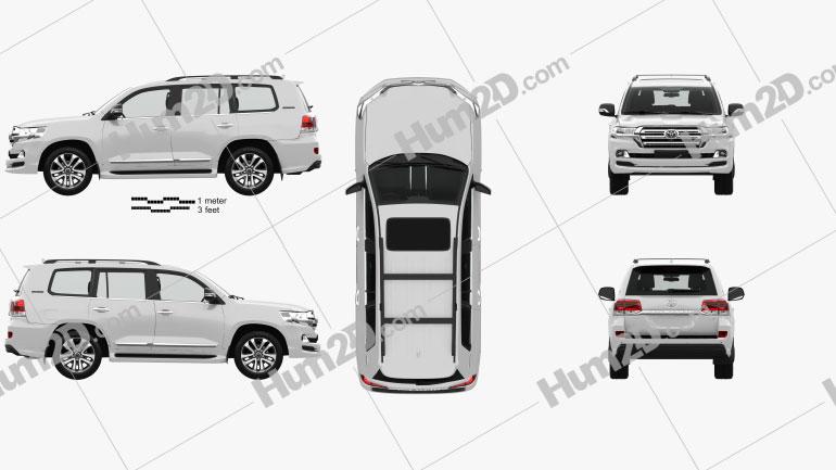 Toyota Land Cruiser Excalibur com interior HQ e motor 2017 car clipart