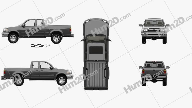 Toyota Tundra Access Cab SR5 with HQ interior 1999 car clipart