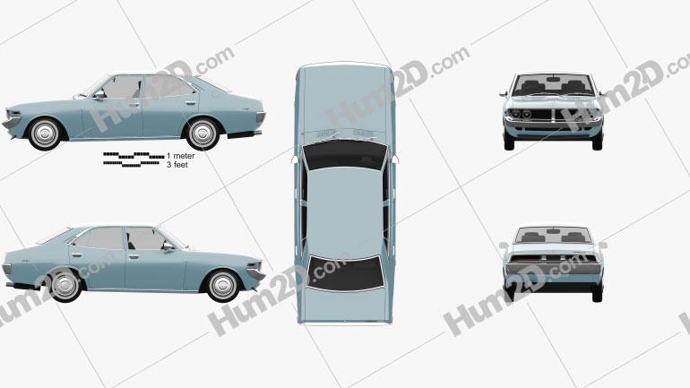 Toyota Mark II 1972 car clipart