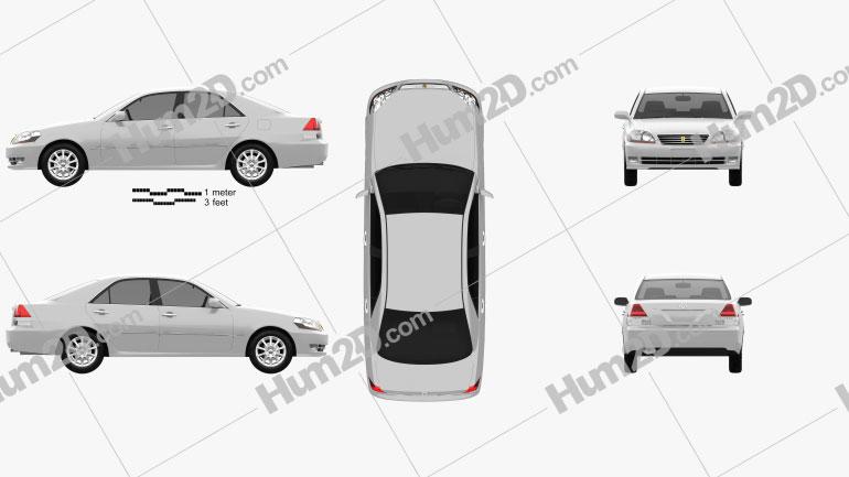Toyota Mark II 2002 car clipart