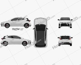Toyota Yaris GR 2020 car clipart
