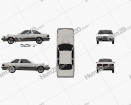 Toyota Soarer 1981 car clipart
