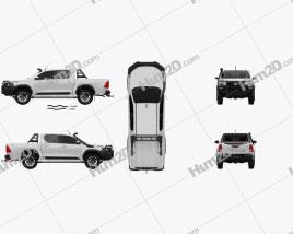 Toyota Hilux Doppelkabine Rugged 2020 car clipart