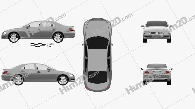 Toyota Mark X 2004 car clipart