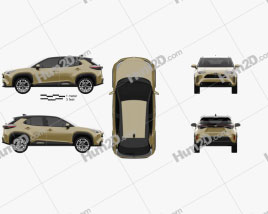Toyota Yaris Cross Hybrid 2020 car clipart