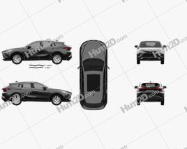 Toyota Harrier 2020 car clipart