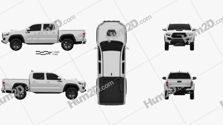 Toyota Tacoma Double Cab TRD Pro 2020 car clipart