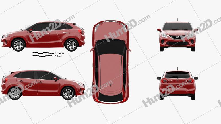 Toyota Glanza 2020 car clipart