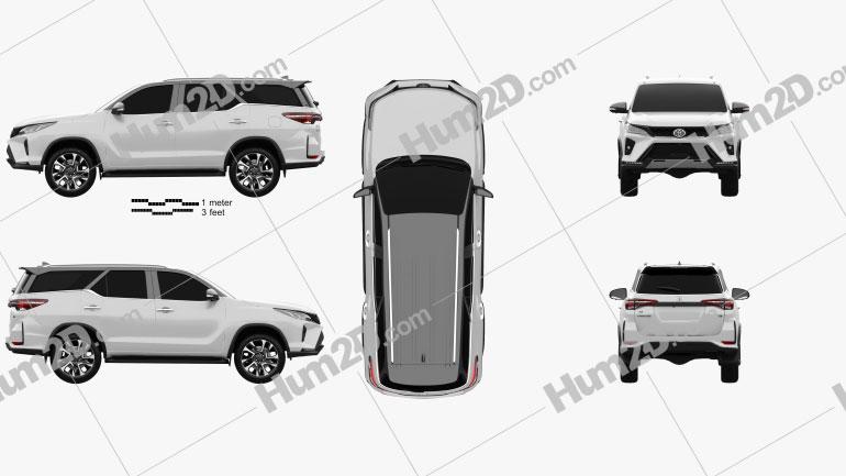 Toyota Fortuner Legender 2020 car clipart